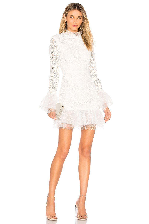 revolve white dress midi