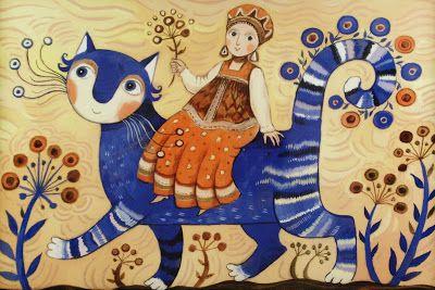 On a fairy blue cat by Daria Gerasimova