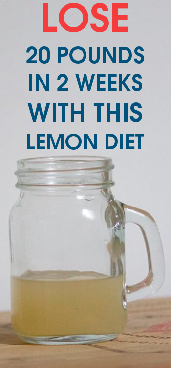 LOSE 20 pounds IN 2 weeks with this LEMON DIET