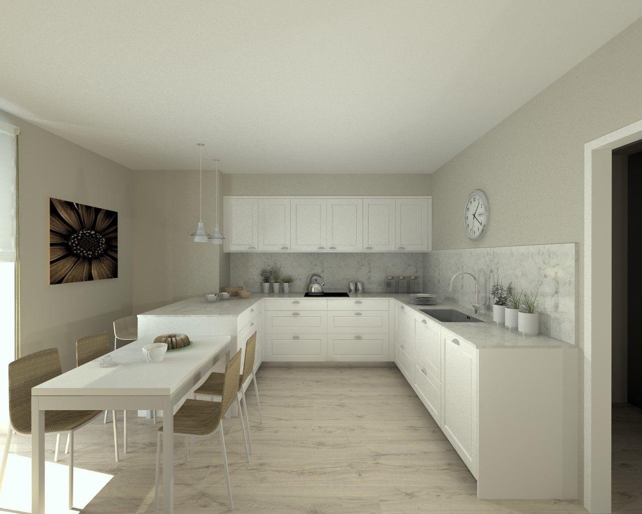 Cocina santos modelo epoca laca seda blanca encimera - Encimera silestone ...