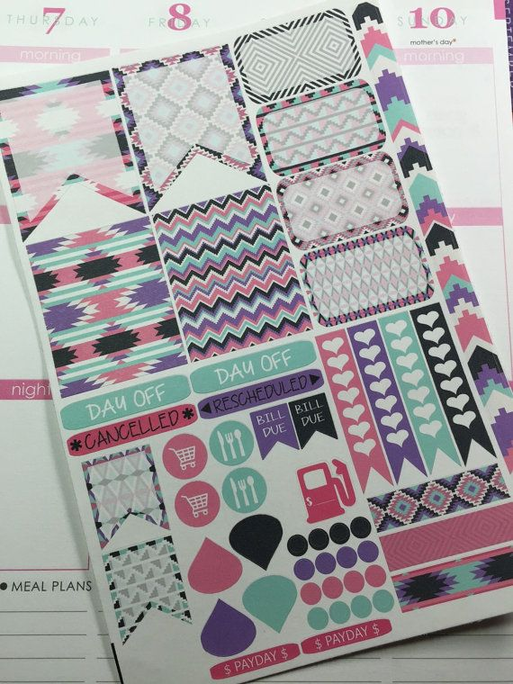 Aztec Sticker set for Erin Condren Life by PlantasticPlanning