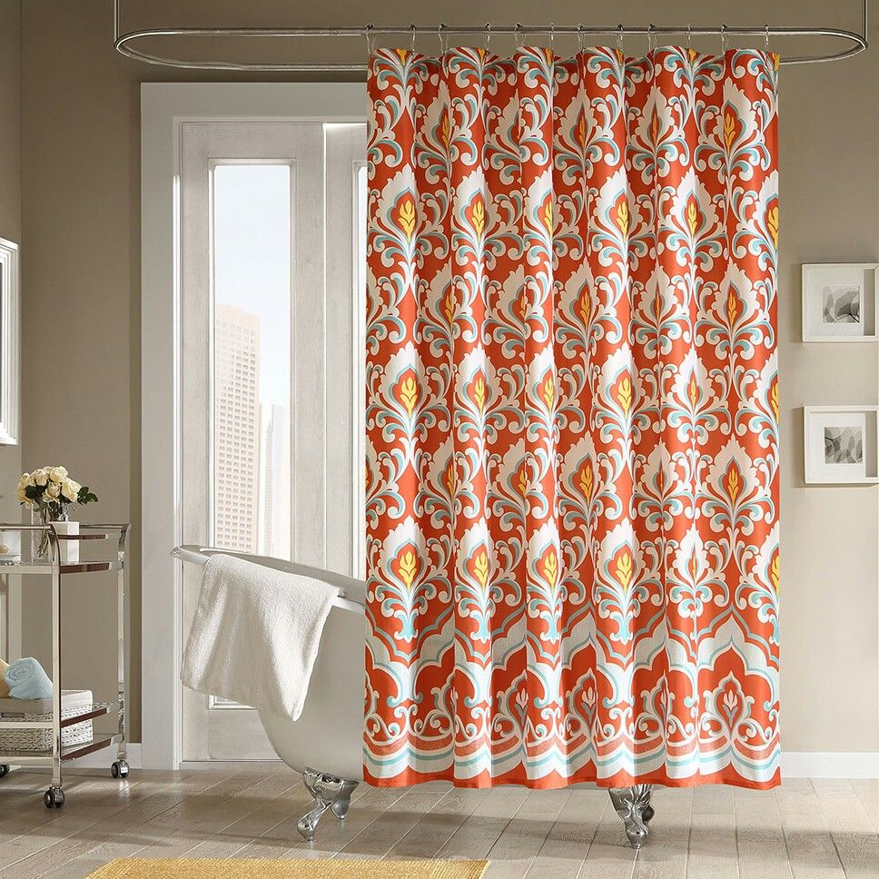 Shower Curtain Wayfair Com Fall Shower Curtain Orange Shower