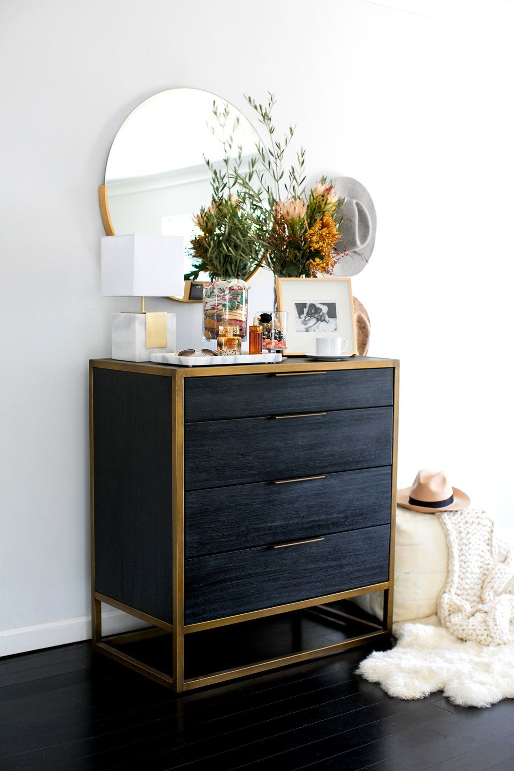 Black dresser by crate and barrel tyler in 2019 black - Crate barrel bedroom furniture ...