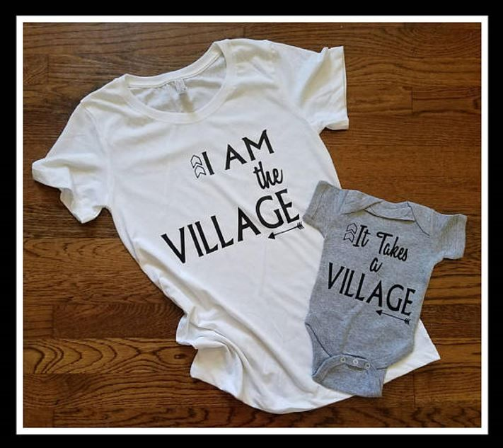 a945ece8ce It Takes A Village and I am The Village Matching Sets For Parents ...