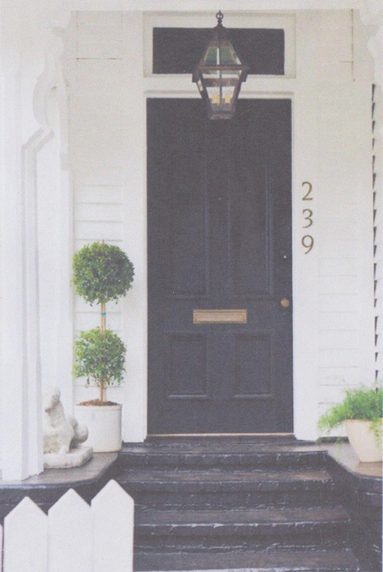 Black Front Door Decor Pinterest Black Front Doors Front