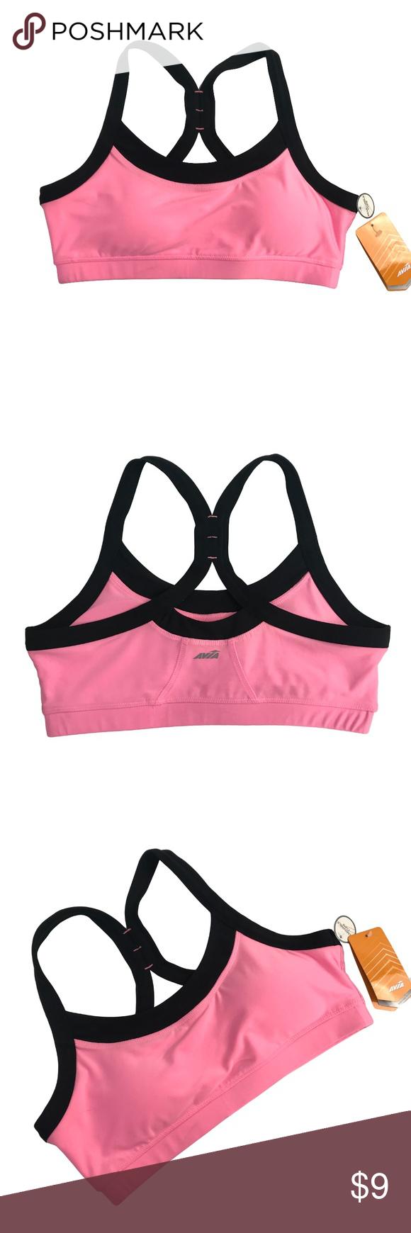 Avia Pink Sports Bra Work out Top NWT Sports bra, Black