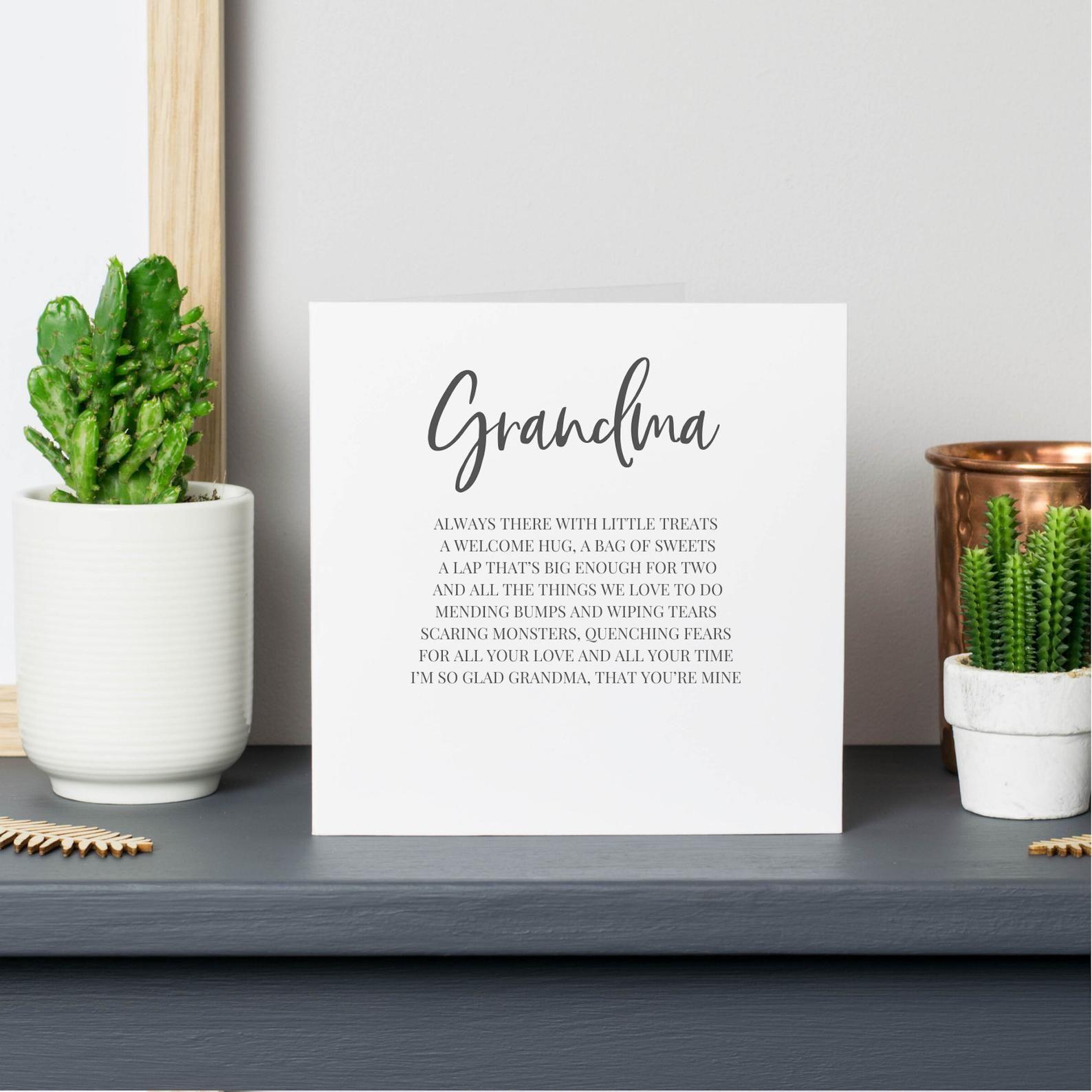 Grandma card card for grandma mothers day card grandma