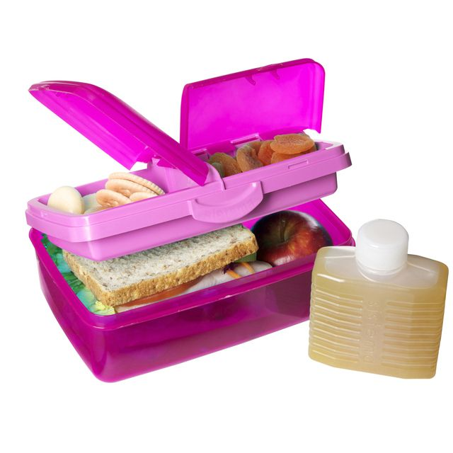 Ocado Sistema Plastic Klip It 4 Compartment Lunch Box 1