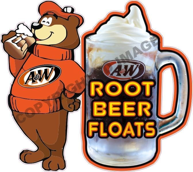 a w root beer floats ice cream concession trailer food truck sign rh pinterest com root beer floats clipart