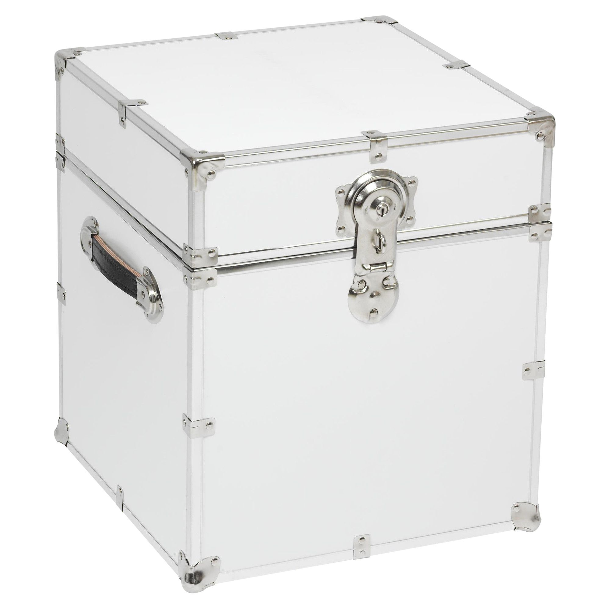 Beau Stanley Case Works Cube White Steel Storage Trunk For Students Living In  Dorm Rooms Or Apartments At College Or Boarding School, On Campus Or Off.