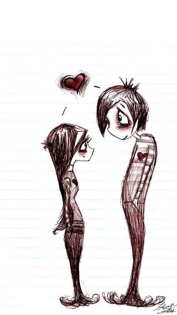 Emo shtuff google search adorable pinterest emo gothic emo shtuff google search love drawings couplecute voltagebd Choice Image