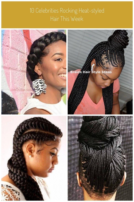 Black Braid Braids Celebrities Crown Hair Heatstyled