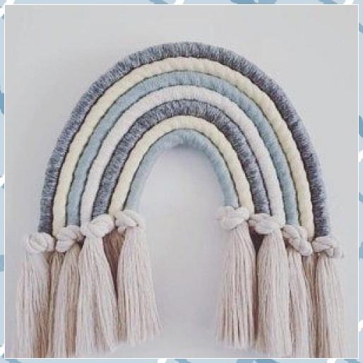 {ResimSayisi} #art #colours #custom #decoration #fiber #fibre #hanging #knotted #macrame #macrame bag #macrame dreamcatcher #macrame rainbow #macrame runner #makrome ipi #nursery #order #rainbow #wall