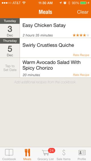 more examples of great UI design - Food on the Table -  - grocery list examples