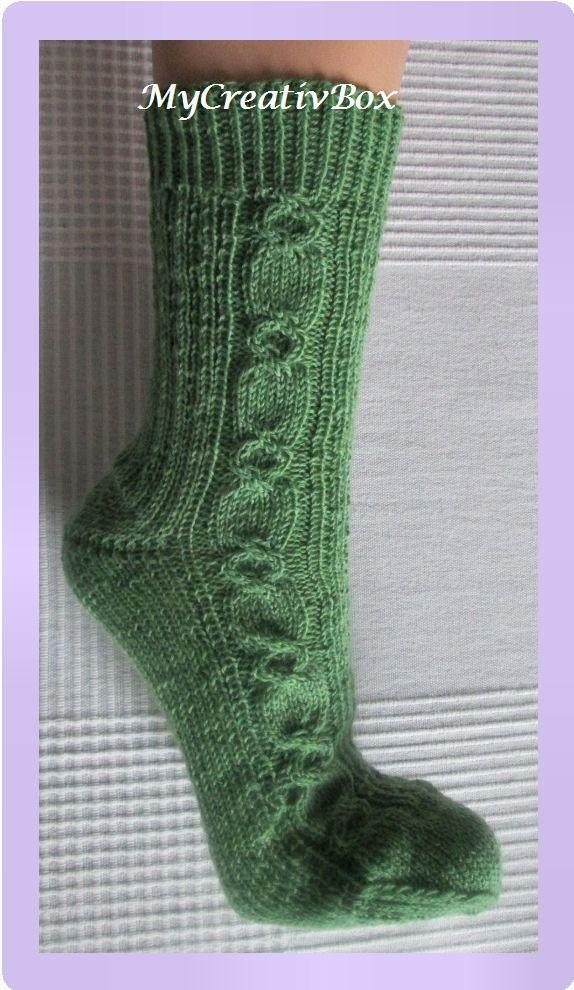 """Socken """"hinter & vor solo"""" für Gr. 32-47, Anleitung von MyCreativBox, gestrickt mit Sockenwolle 4-fach"""