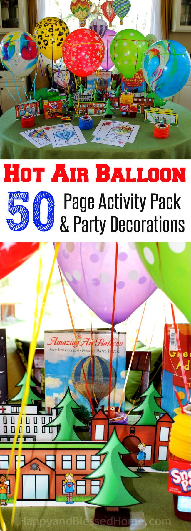 Hot air balloon activity pack for kids and fun hot air for Balloon ideas for kids