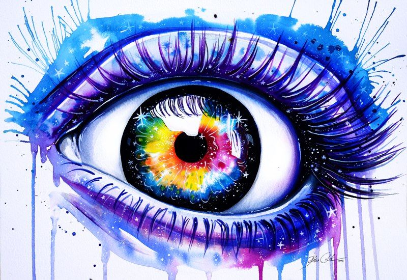 """Pixie Cold """"Window to your galaxy"""" Eye drawing, Galaxy"""
