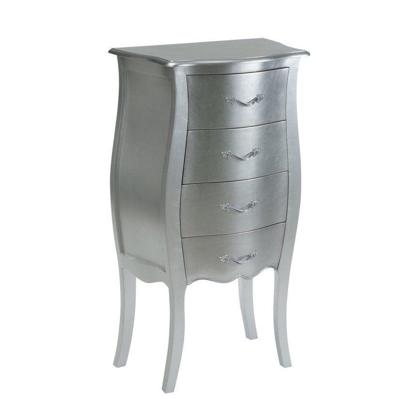 Kommode Louis 4 Schubladen Silver 55 35 100 Cm Kommoden Und