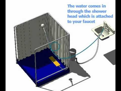 Portable Shower Temporary Showers for Disabled Indoor
