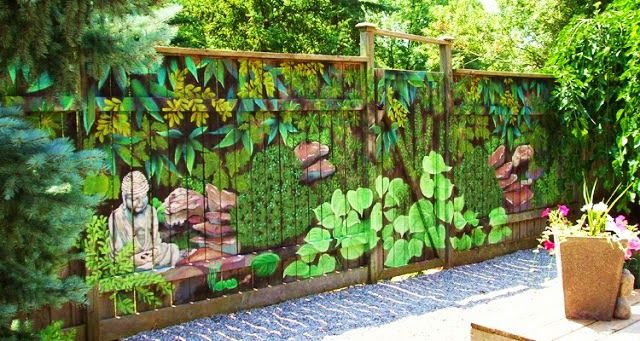 Exceptionnel Decorative Fence Designs, Original Garden Fencing Panels Ideas The Garden  Fence Panels Can Become The Canvas To Express Your Artistic Talent Or So  For The ...