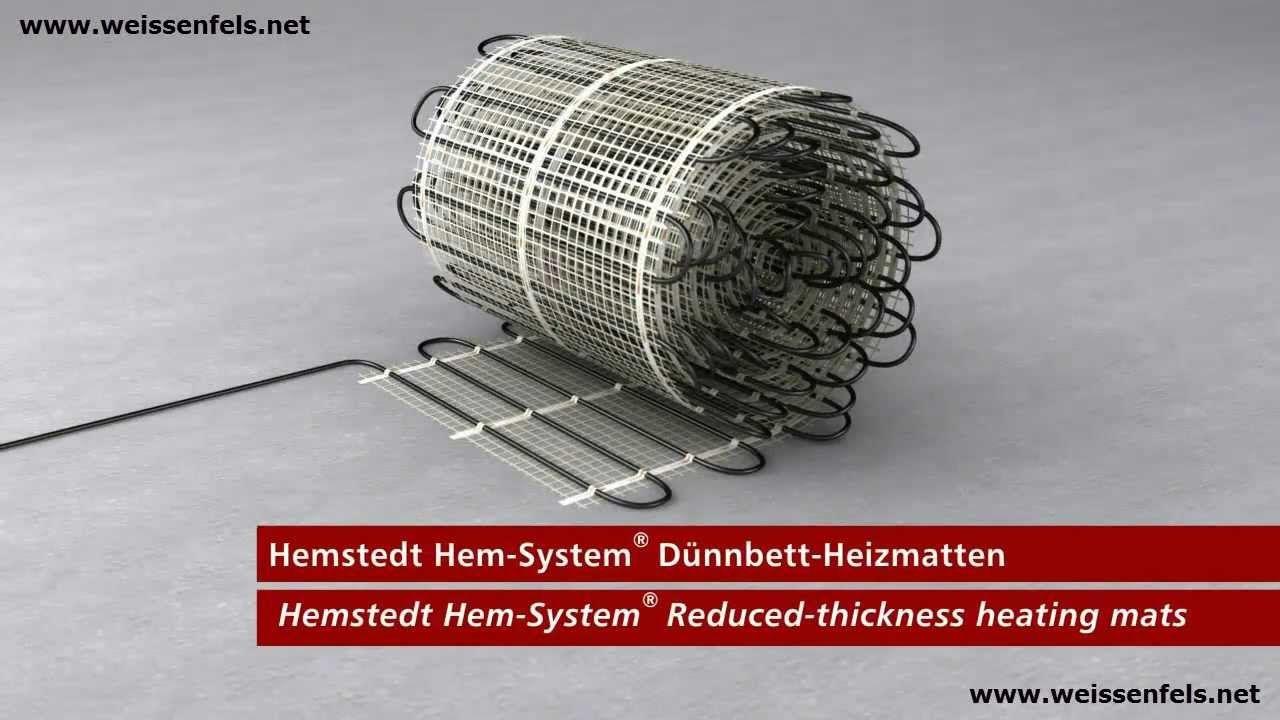 Fliesenheizung Dünnbett-Heizmatten Elektrische Fußbodenheizung