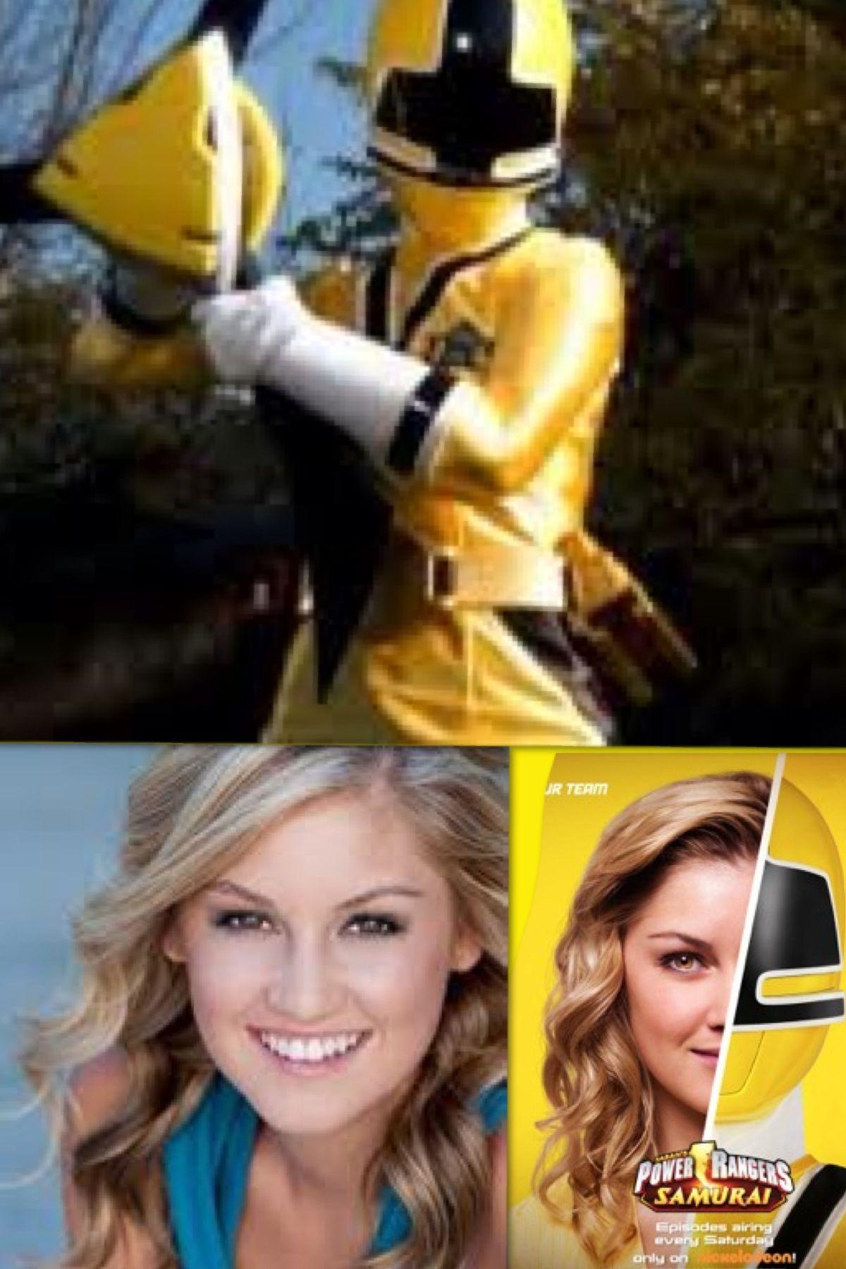 Emily the yellow samurai power ranger played by brittany pirtle power rangers pinterest - Power ranger samurai rose ...