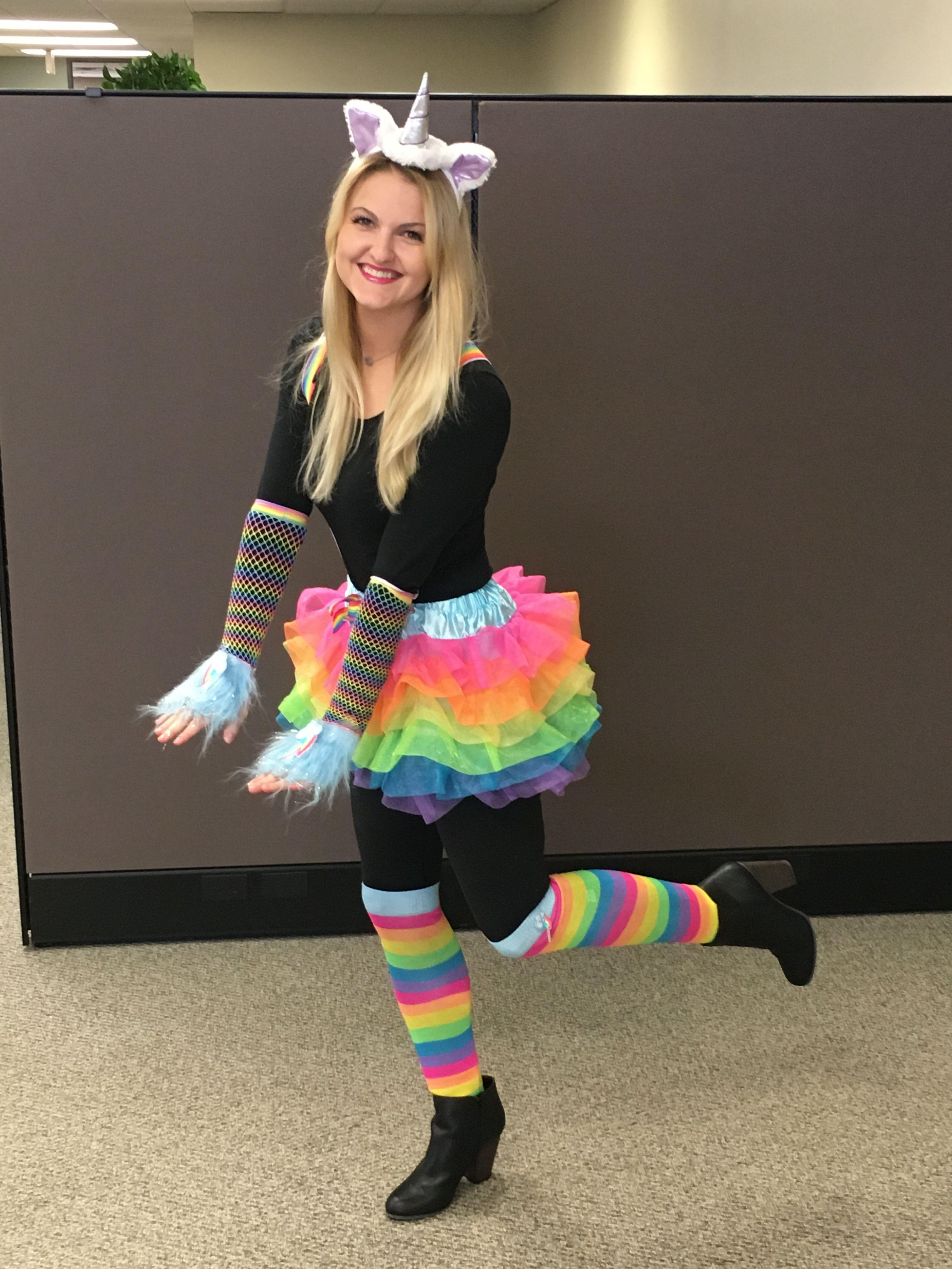 creative halloween costume for the office | unicorn | halloween