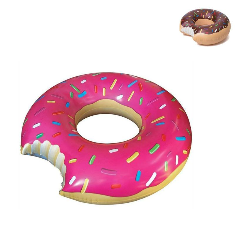 Gigantic Donut Inflatable Swimming Float Tube Raft Adult Pool Float Swim  Ring Summer Water Fun Pool Toys PF01 60