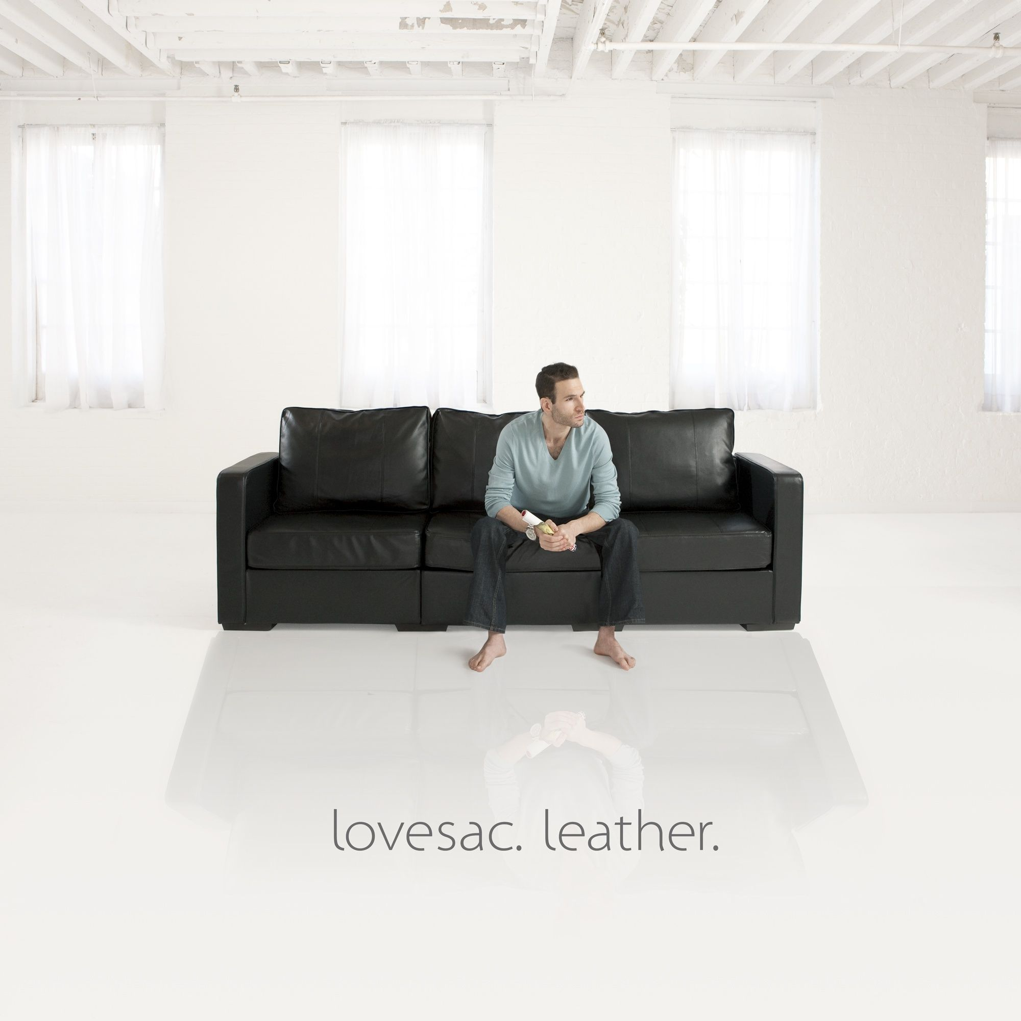 Lovesac Sactionals In Leather Leather Furniture Couch Sofa