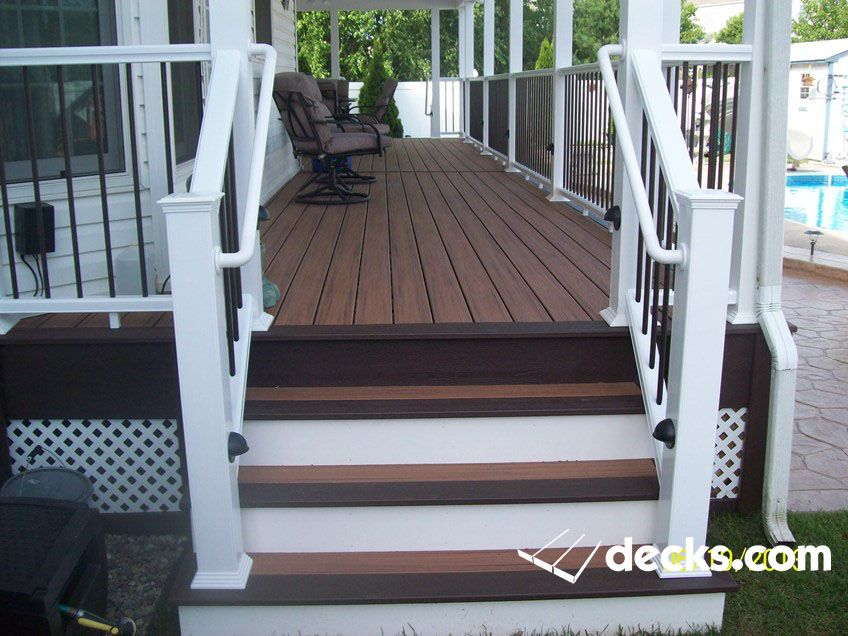 Best Porch Stairs With Graspable Handrails Stair Lighting 400 x 300