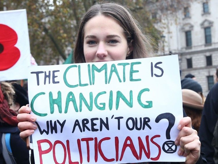 School Children Strike Over Lack Of Climate Change Action Sky News Climate Change Poster Climate Change Protest Signs