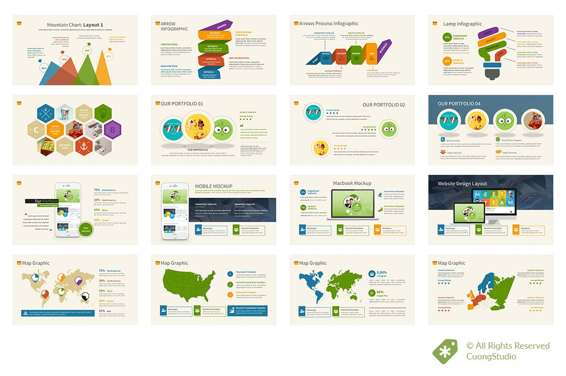 Infographic Powerpoint Template | Ateliers und Kreativ
