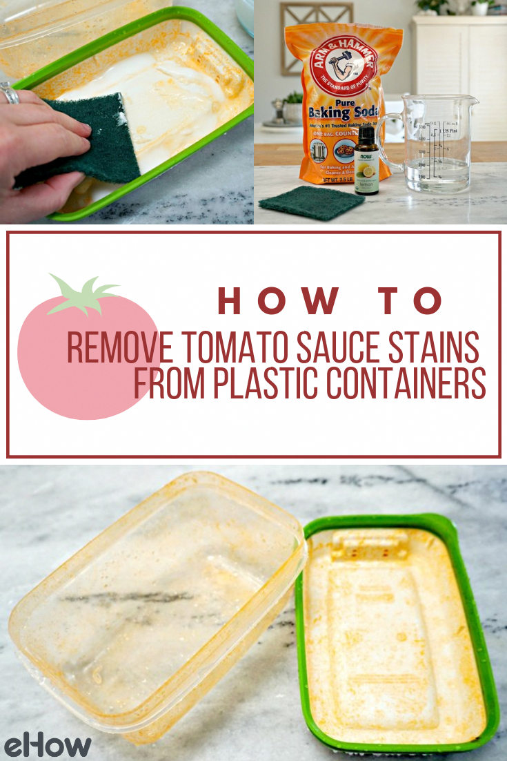 How To Get Red Sauce Stain Out Of Plastic