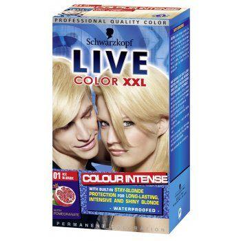 Schwarzkopf Discontinued Live Intense Lightener Ice Blonde 001