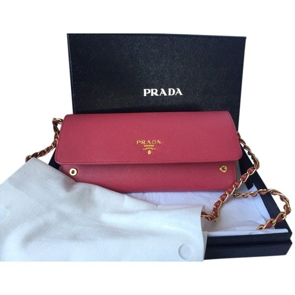 Pre-owned Prada Saffiano Woc ($725) ❤ liked on Polyvore