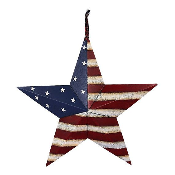 Red White and Blue Americana Large Barn Star by PatrioticWallDeco ...