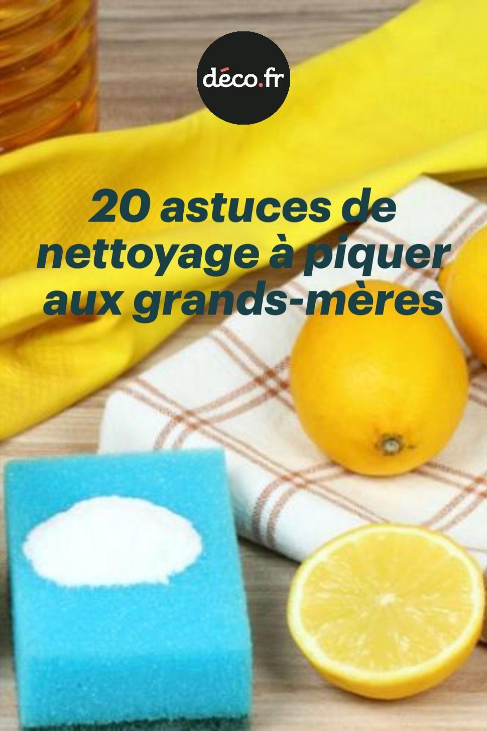 20 Astuces De Nettoyage A Piquer Aux Grands Meres Bicarbonate Et Citron Tache De Vin Rouge Bicarbonate De Soude Vinaigre