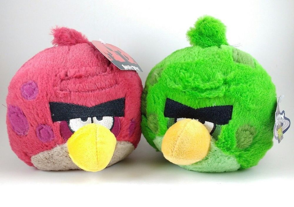 Angry Birds Space Plush Big Brother Terence Red & Green Bundle 5