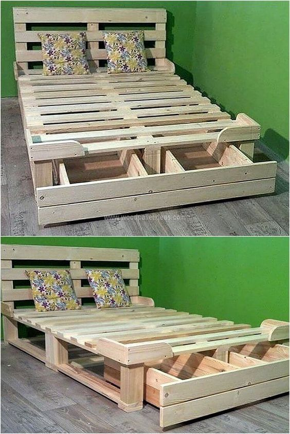 Photo of 65 recycled pallet wood bed – Pallet Projects