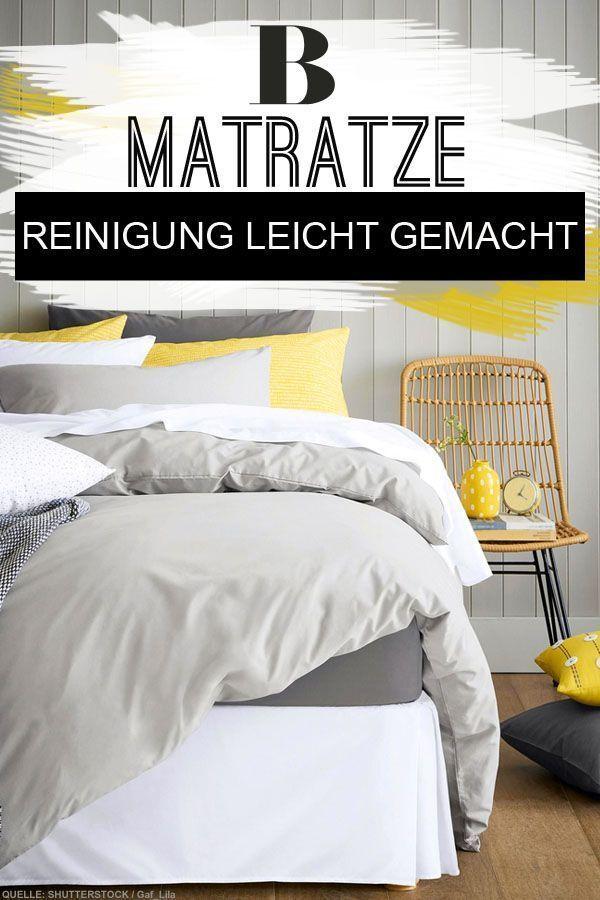 Matratze reinigen: Hausmittel und Tipps. Unschöne Flecken ...