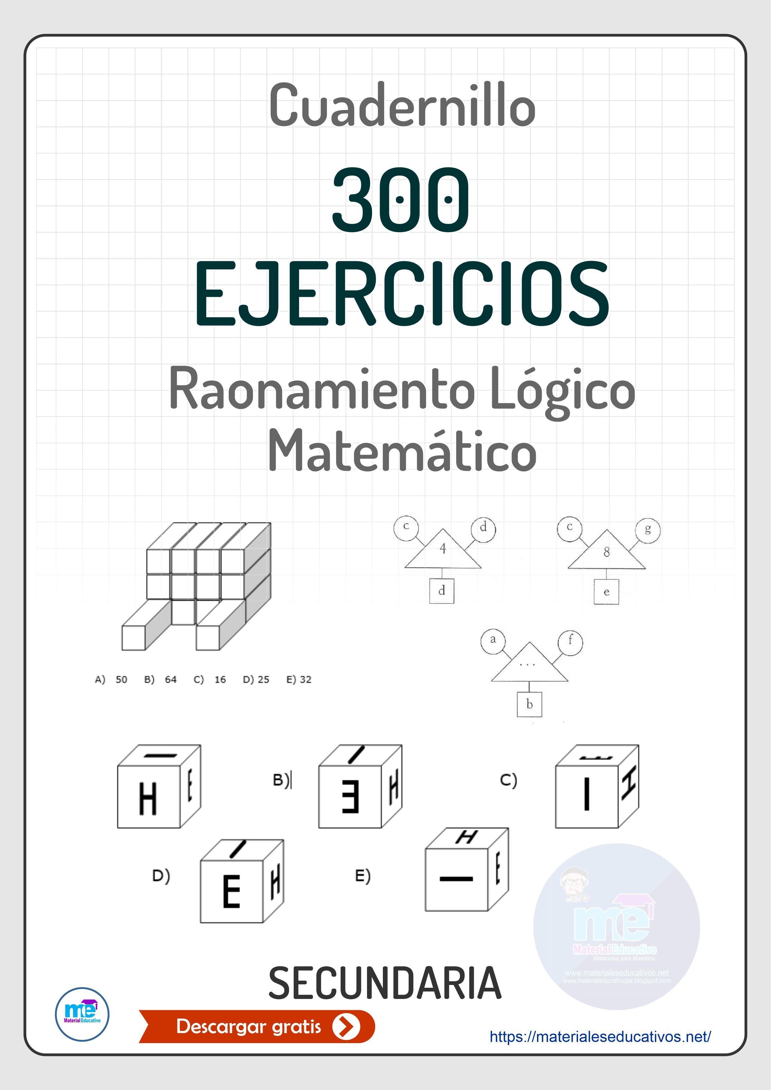 Razonamiento Lógico Matemático Para Secundaria Matemáticas Para Secundaria Ejercicios Matematicos Secundaria Secundaria Matematicas