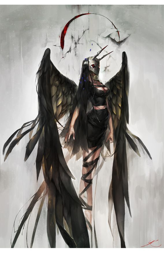Women Of Fantasy Anime Fallen Angel Angel Drawing Anime Angel