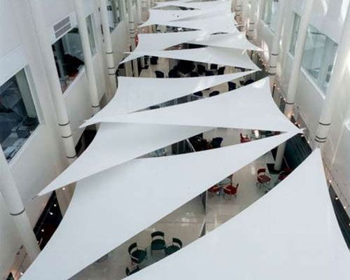 Cable Membrane Tensile Structure Triangles Fabric Architecture Canopy Architecture Shade Structure Fabric Structure