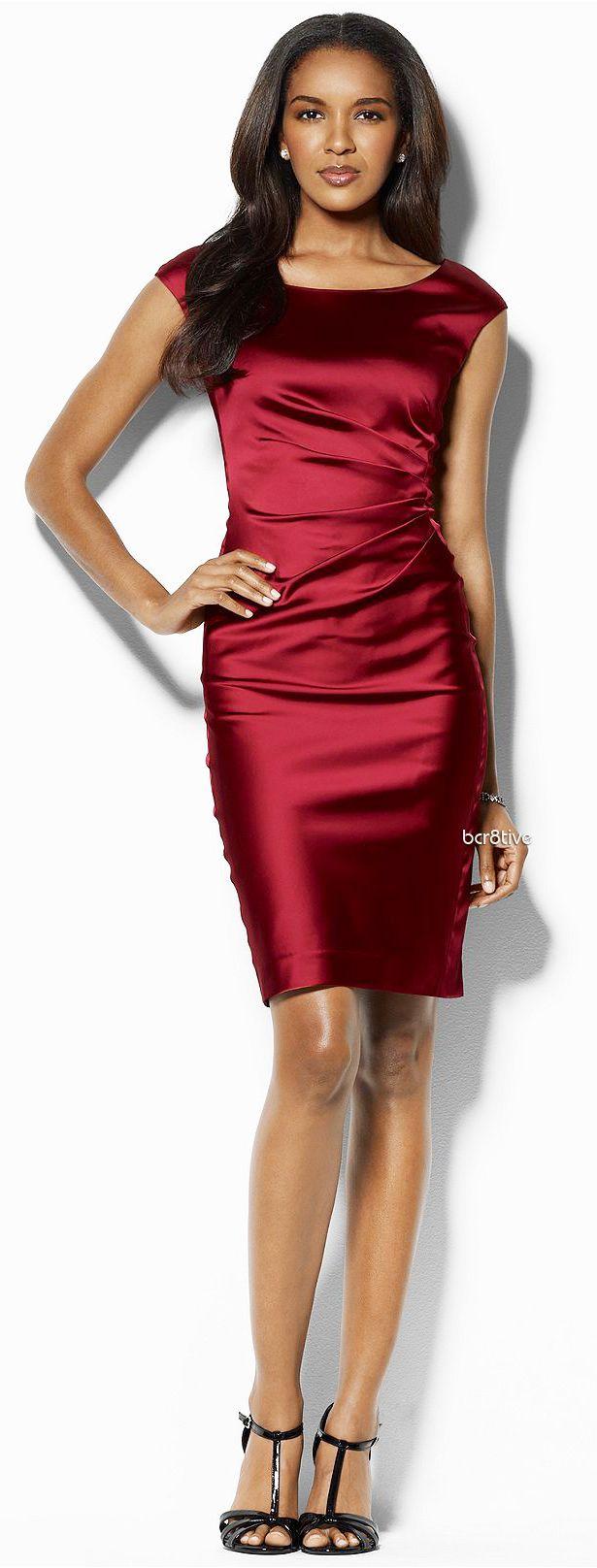 macys wedding guest dresses Lauren by Ralph Lauren Dress Sleeveless Satin Sheath Macy s I hope to find this