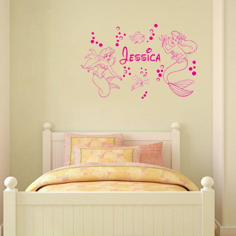 Mermaid-ARIEL-Custom-Name-wall-art-decals-home-decoration-wall ...