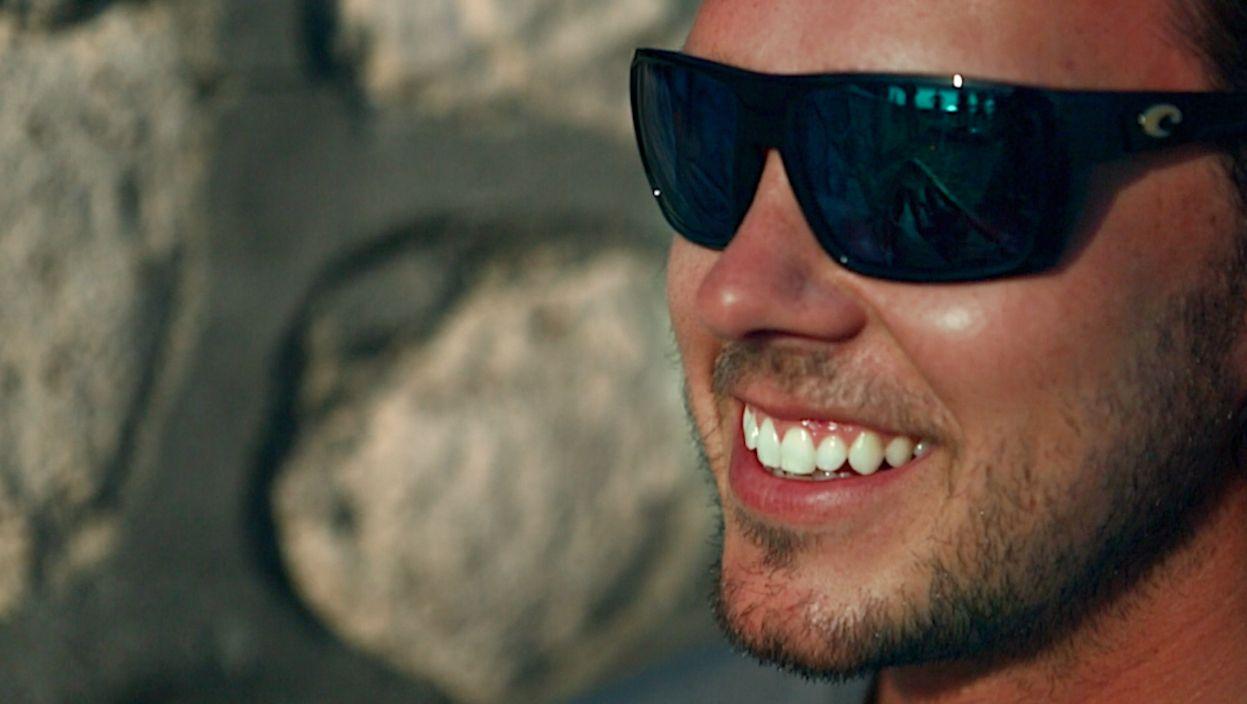 5493b9ee0bb Hamlin with Green Mirror Lens   Shiny Black Frame from Costa Sunglasses