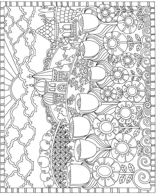 ESCAPES Joyful Gardens Coloring Book Dover Publications