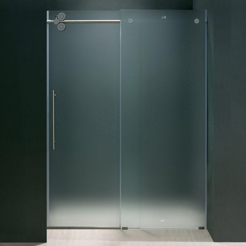 Elan Frameless Shower Door 375 In Left Sided Door Can Buy At Home
