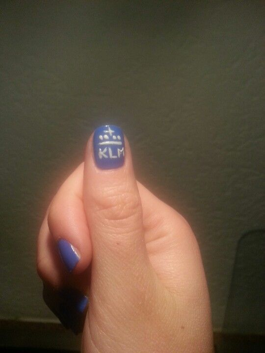 Corporate nail art @ KLM