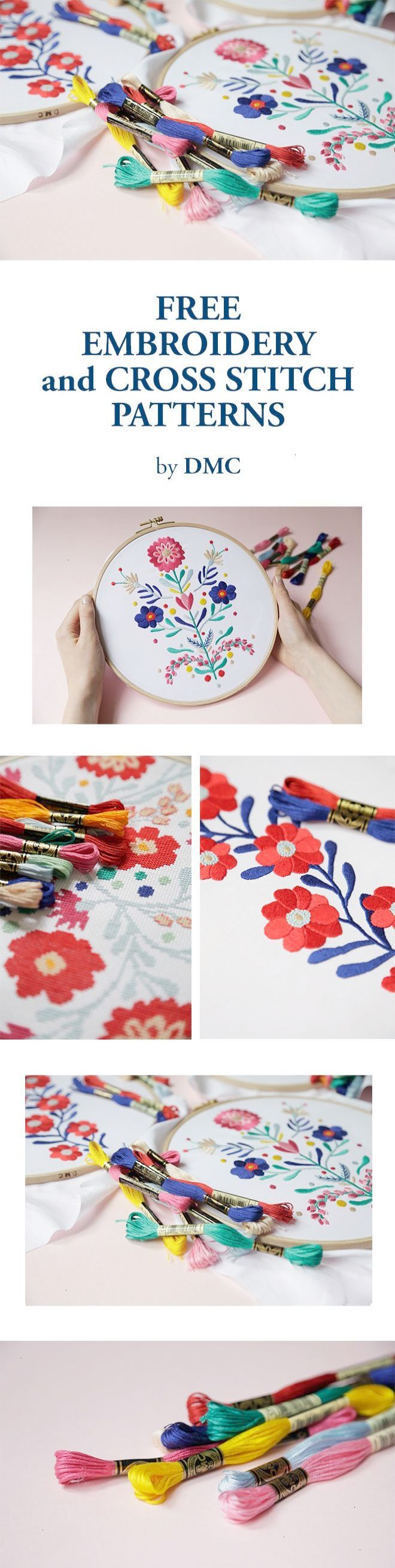 Free embroidery and cross stitch patterns by DMC | cross stitch ...
